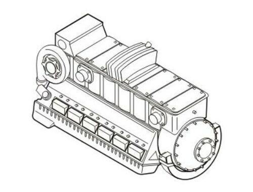 CMK Jumo 211F-Germ.aircraft engine WWII 1:72 (7163)