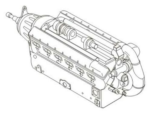 CMK Daimler Benz DB 603-german air.engine WWII 1:72 (7164)