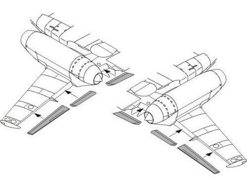 CMK Messerschmitt M 262A/B wing flaps set for ACA 1:72 (7174)