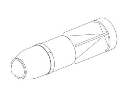 "CMK German WW II Aircraft bombs SC 1000 ""Hermann"" 1:72 (7185)"