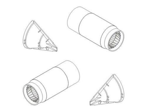 CMK TSR 2 - Intake FOD covers and Exhausts Airf. 1:72 (7189)