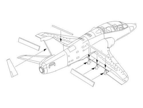 CMK Bae Hawk 100 series - control surfaces 1:72 (7198)