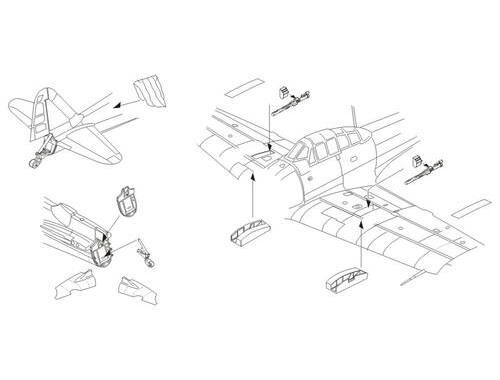 CMK A6M2 model 21 Zero - Armament set   Tail cone 1:72 (7254)