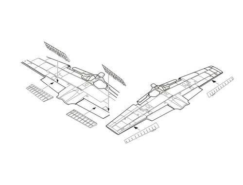 CMK A6M3 model 32 Zero – Landing Flaps   Ailerons 1:72 (7264)
