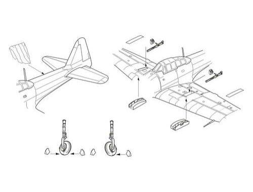 CMK A6M3 model 32 Zero - Armament and Exterior se 1:72 (7266)