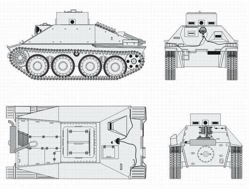 CMK Jagdpanzer 38 Hetzer School version Converson 1:48 (B48067)