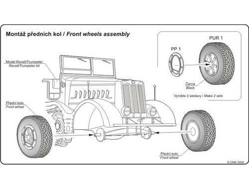 CMK Sd.Kfz.9 Famo wheels for REV/Trump 1:72 (B72016)