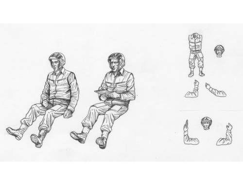 CMK Russian modern Heli. pilots-sitting (2 fig.) 1:35 (F35169)