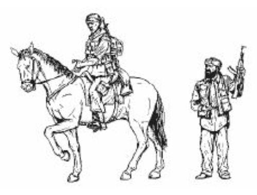 CMK US Military Policeman mounted and Iraqi Civil 1:35 (F35198)