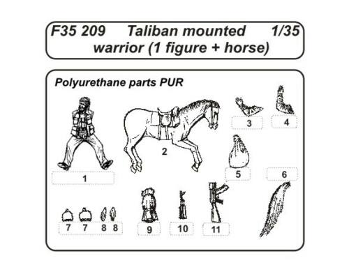 CMK Taliban mounted warrior (1 fig.  horse) 1:35 (F35209)
