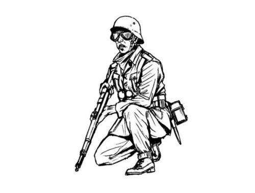CMK Germann WW II Infantryman from Africa(1fig.) 1:35 (F35215)