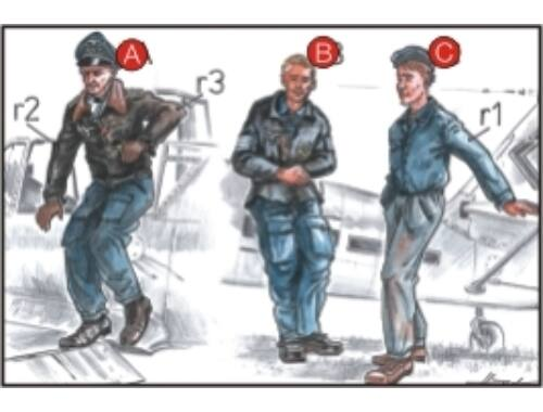 CMK German Pilots (2 fig.) And Mechanic WW II 1:72 (F72037)