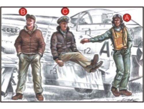 CMK US Army Pilots (2 fig.) And Mechanic WW II 1:72 (F72039)