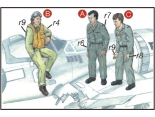 CMK US Navy Mechanics (2 fig.) And Pilot WW II 1:72 (F72040)