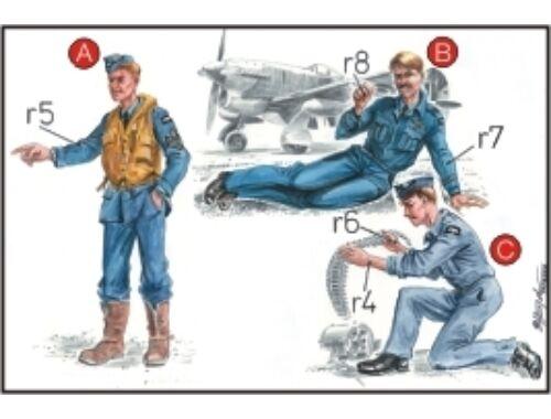 CMK RAF Mechanics (2 fig.) And Pilot WW II 1:72 (F72041)