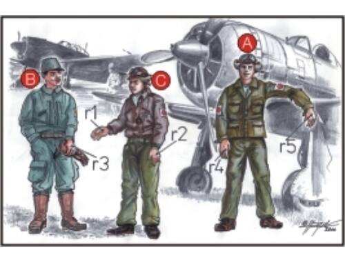 CMK Japanese Army Pilots (2 fig.) And Mechanics W 1:72 (F72042)