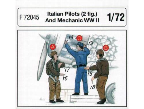 CMK Italian Pilots (2 fig.) And Mechanic WW II 1:72 (F72045)
