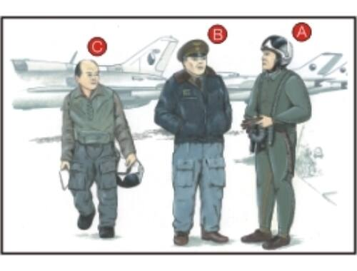 CMK Warsaw Pact Pilots (3 fig.) 1:72 (F72051)