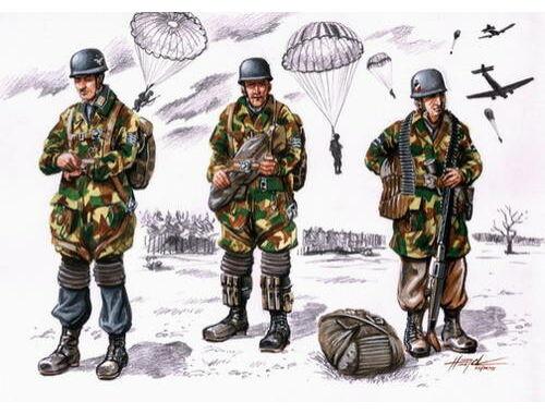 CMK Fallschirmjäger WWII (3 fig.) 1:72 (F72075)