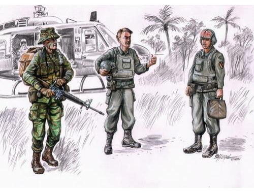 CMK Vietnam LRRP US Helicopter crew (3 fig.) 1:72 (F72076)