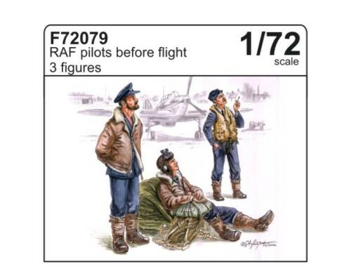 CMK RAF pilots before flight (3 fig.) 1:72 (F72079)