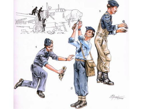 CMK RAF mechanics for Wellington (3 fig.) 1:72 (F72099)