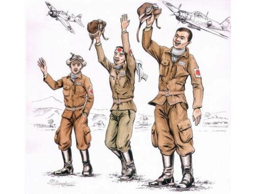 CMK Japanese kamikaze pilots (3 fig.) 1:72 (F72113)