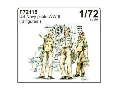 CMK US Navy pilots WW II (3 fig.) 1:72 (F72115)