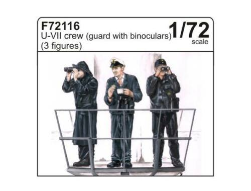 CMK U-VII crew (guard with binoculars) (3 fig.) 1:72 (F72116)