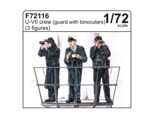 CMK U-VII crew (guard with binoculars) (3 fig.) 1:72 (F72116)