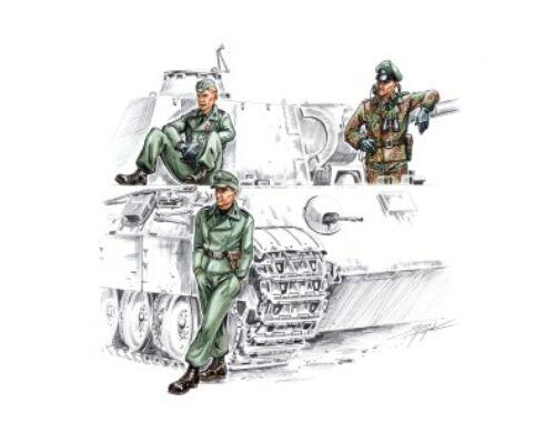 CMK Waffen SS tankers WW II (3 fig.) 1:72 (F72141)
