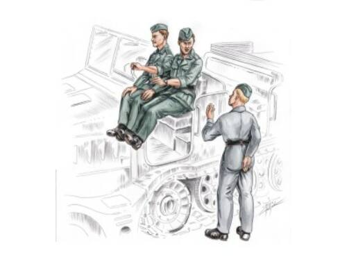 CMK German driver and personal for FAMO (3 fig.) 1:72 (F72155)
