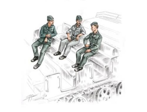 CMK German soldiers for FAMO (3 fig) 1:72 (F72156)
