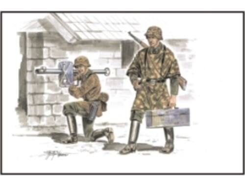 CMK German soldiers with Panzerschreck (2.fig met 1:72 (F72161)