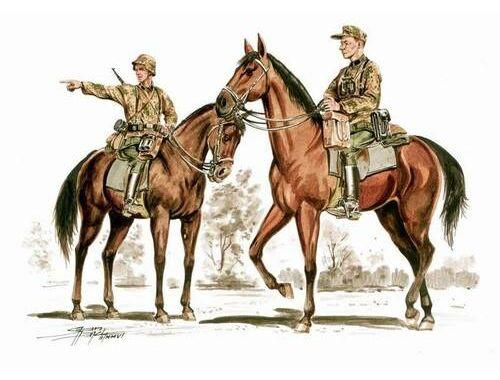 CMK Wehrmacht mounted infantry set (2.fig   2 hor 1:72 (F72180)