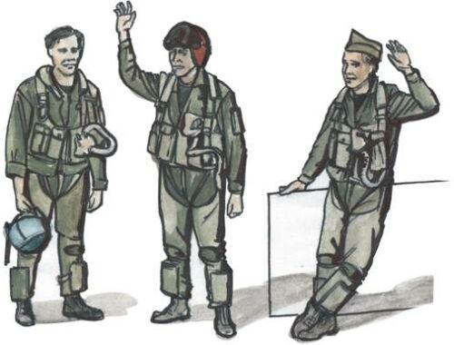 CMK US modern jet pilots (3 pcs) 1:72 (F72222)