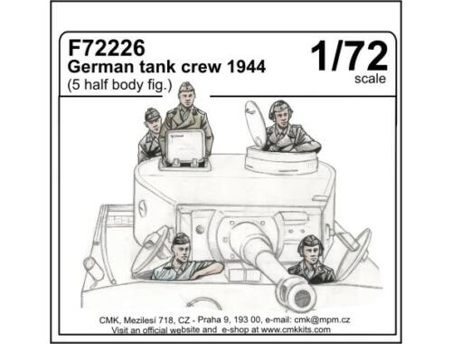CMK German tank crew 1944 (5 half body figures) 1:72 (F72226)