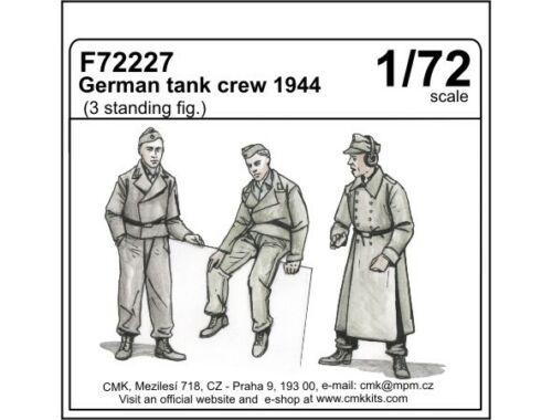CMK German tank crew 1944 (3 standing figures) 1:72 (F72227)