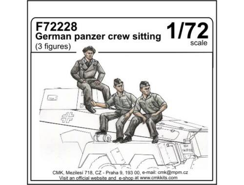 CMK German panzer crew sitting (3 fig.) 1:72 (F72228)