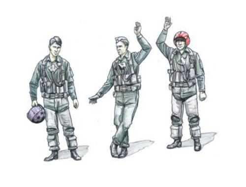 CMK US Navy pilots modern WW II (3 fig.) 1:72 (F72230)