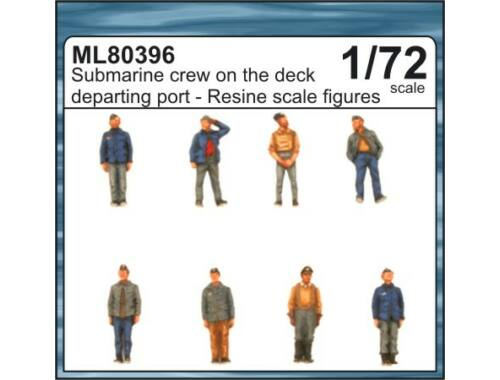 CMK Submarine crew on the deck departing port 1:72 (ML80396)