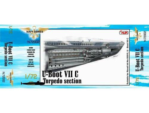 CMK U-Boot VII Torpedo section for REV 1:72 (N72002)