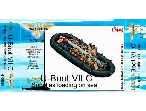 CMK U-Boot VII Supplies loading on sea (food, boa 1:72 (N72006)