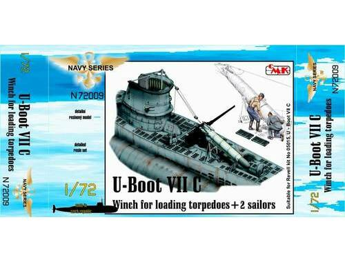 CMK U-Boot VII Winch for loading torpedoes for RE 1:72 (N72009)