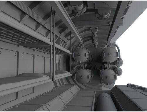 CMK U-Boot IX Front Torpedo Section for REV 1:72 (N72011)