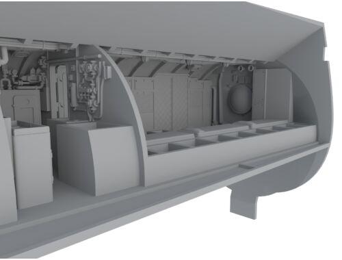 CMK U-Boot IX Front Crew Quarters for REV 1:72 (N72015)