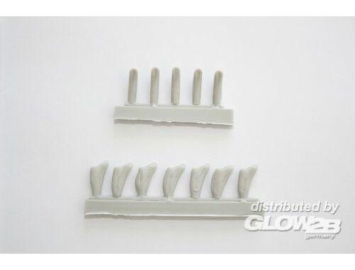 CMK Secondary Armament Blast bags(12pcs) for Tru 1:200 (NS013)