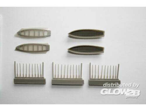 CMK 8 m Cutter (2pcs) with paddles for Trupeter 1:200 (NS014)
