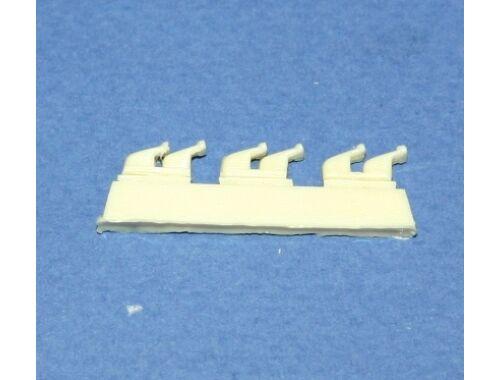 CMK P-39–exhausts(3 double stacks type)Has/Edu 1:48 (Q48002)