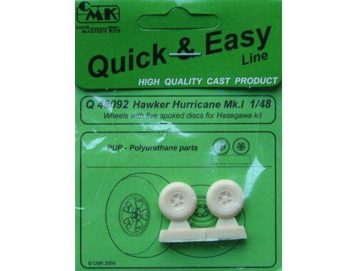 CMK Hawer Hurricane MK.I wheels 5 spoked disc 1:48 (Q48092)